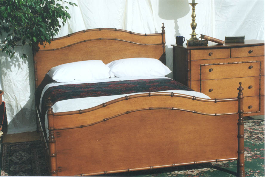 bamboo bed and dresser